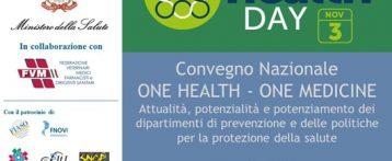 Convegno Nazionale ONE HEALTH – ONE MEDICINE a Roma il 3 novembre